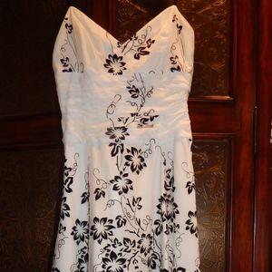 Black & White Suede Cocktail Dress